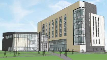 artist rendering of new College of Pharmacy building