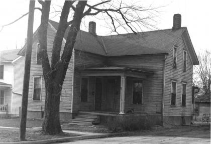1947 image of house demolished for package