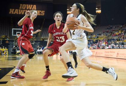 Ally Disterhoft plays in a game against Nebraska earlier this season.