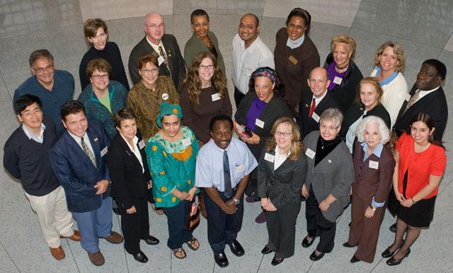 Group photo of UI Catalyst Award founder, recipients, and organizers in 2009
