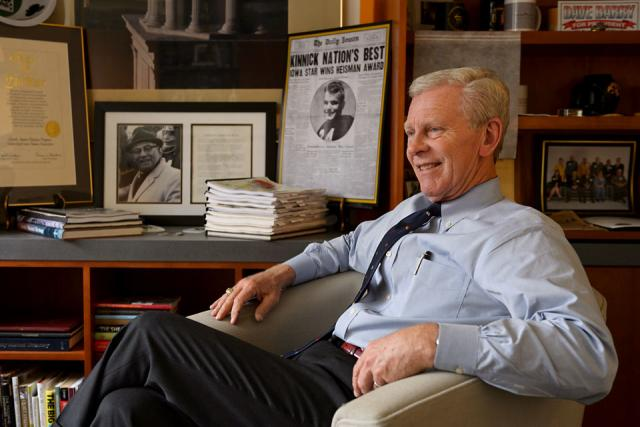 Vince Nelson sitting in his office
