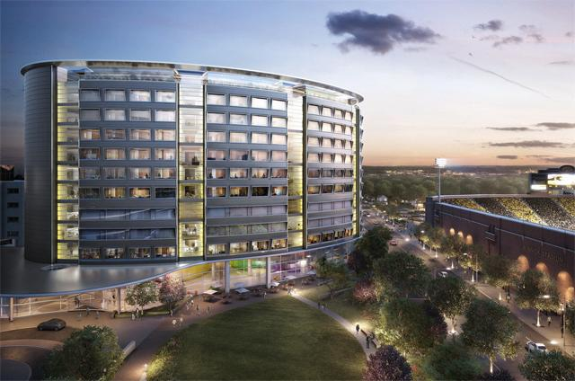 Rendering of the planned UI Children's Hospital.