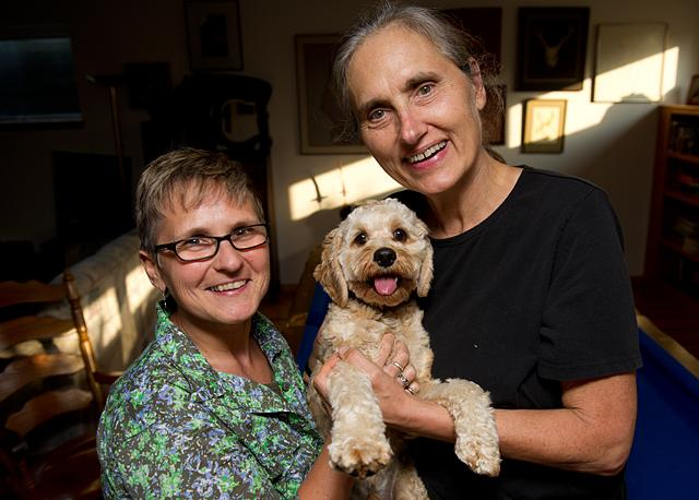 Jackie Reger and Terry Wahls