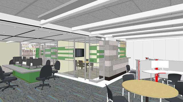Full rendering of the final Learning Commons