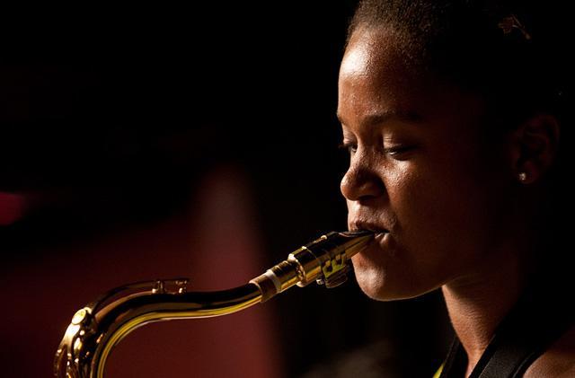A saxophone player