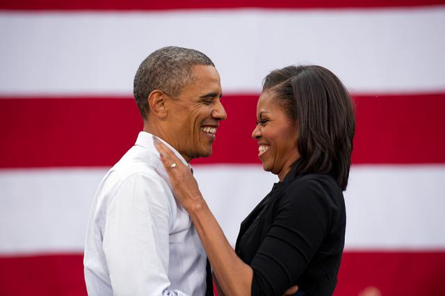 President Barack Obama with First Lady Michelle Obama