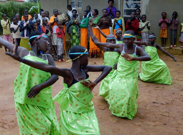 traditional dance in a village where survivors and perpetrators of the 1994 Rwandan Genocide live peacefully together