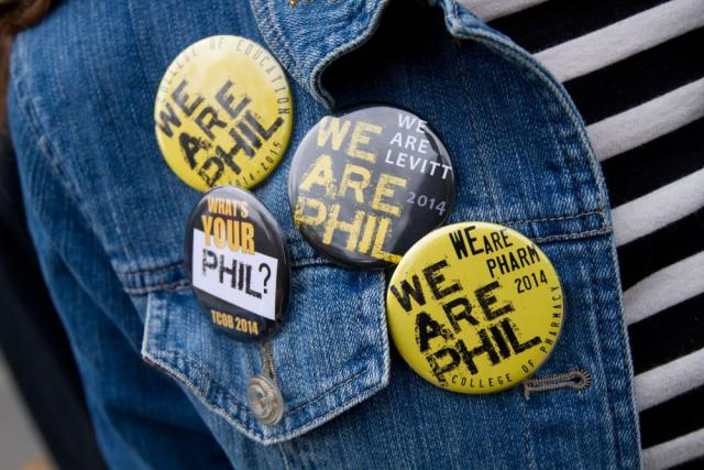 We are Phil buttons on a denim jacket