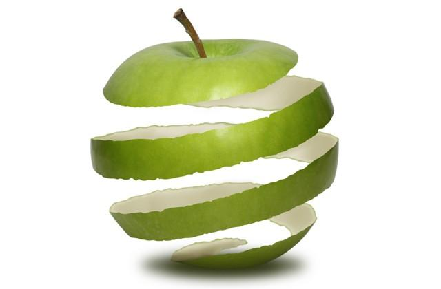 apple peel spiral