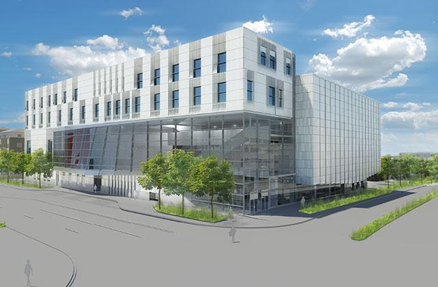 architectural rendering of new music building