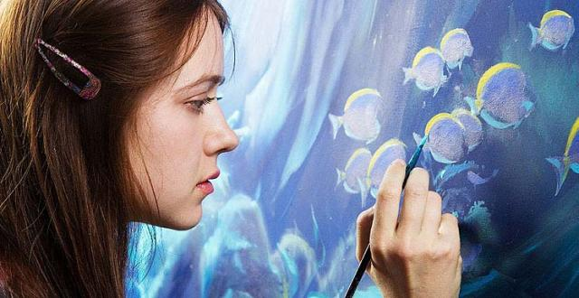 Artist painting fish