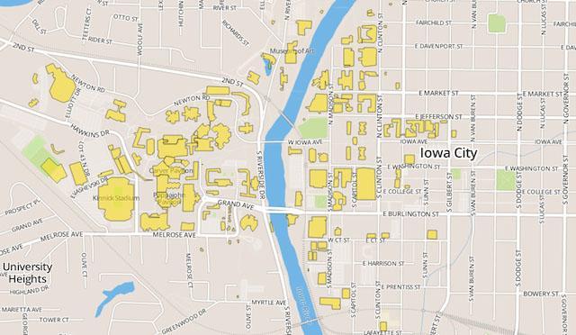 New interactive campus maps site Iowa Now