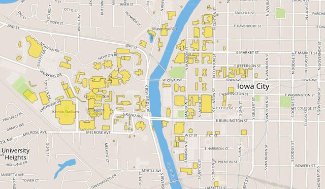 New interactive campus maps site | Iowa Now