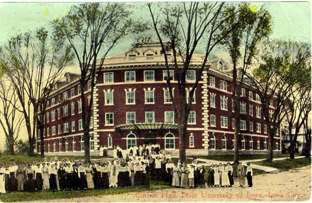 Currier Hall 1914 postcard