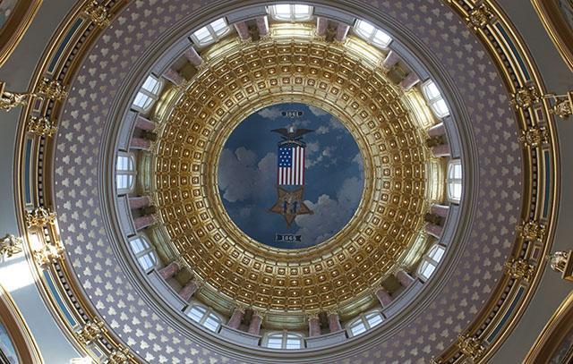 Interior of the Iowa State Capitol dome