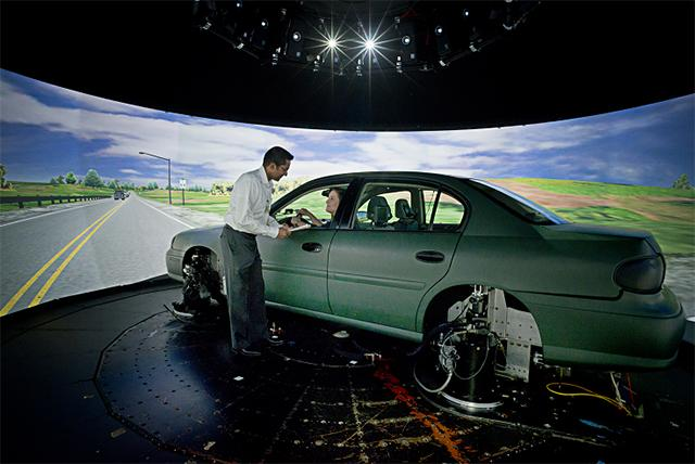 Vehicle in the National Advanced Driving Simulator