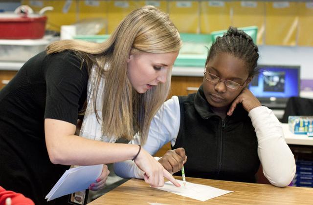 Erica Miller student teaching