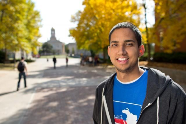 Sauvik Goswami, Diversity Liaison for UI Student Government and student recipient of a 2013 UI Catalyst Diversity Award