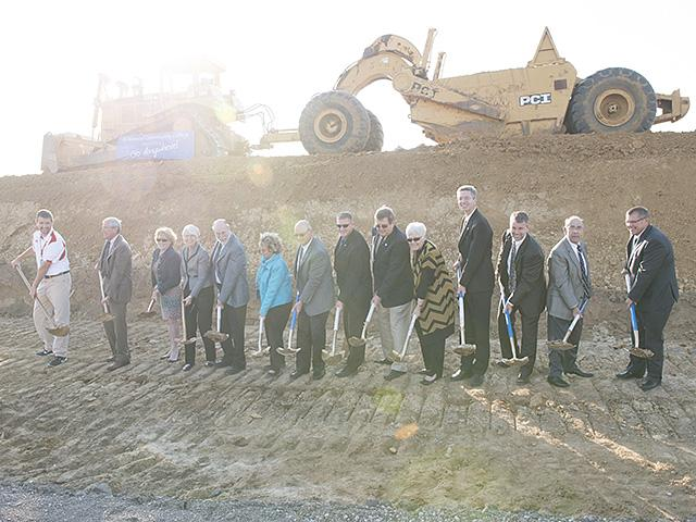 Groundbreaking of Kirkwood Regional Center at the University of Iowa Friday, Oct. 11, 2013