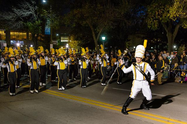 Marching band in the homecoming parade.