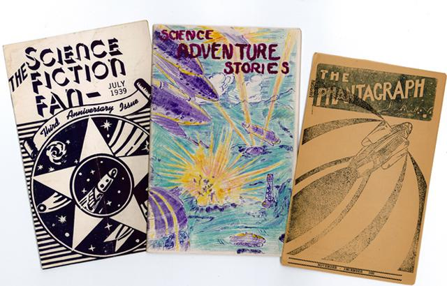 three fanzine magazine covers