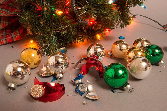Broken Christmas ornaments