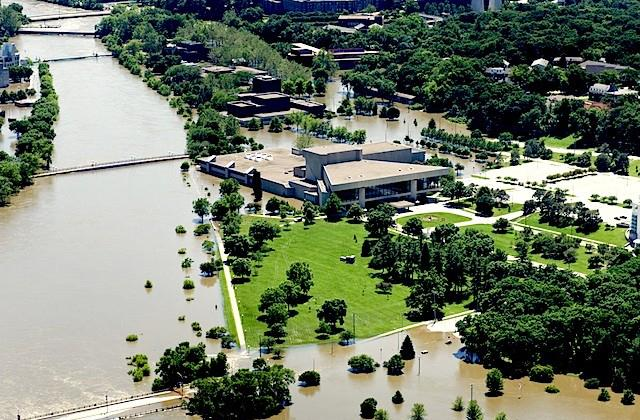 flooded campus