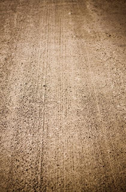 Detail of a dirt road