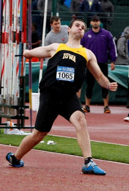 Matt Byers throwing the javelin