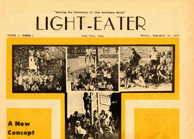 Front page of premiere issue of Light-Eater