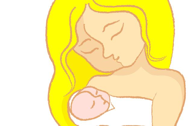 illustration of woman with newborn