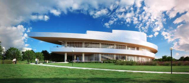 Rendering of the new Hancher facility