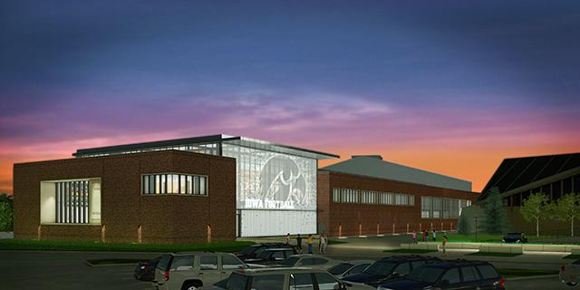 architectural rendering of the proposed athletic building exterior