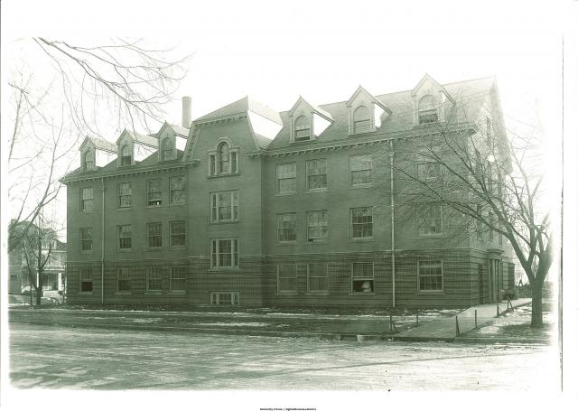 North face of Isolation Hospital, now known as Stuit Hall