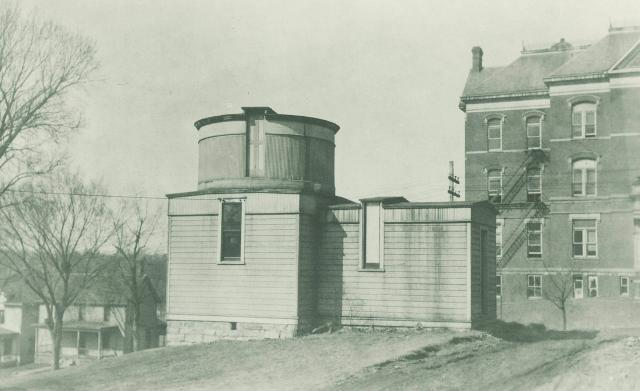 Early 1900s photo of campus observatory building