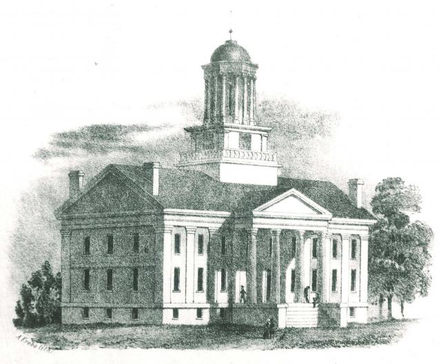 1860 drawing of Old Capitol