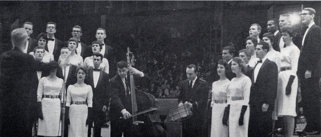 Old Gold Singers at the UI Field House in 1960