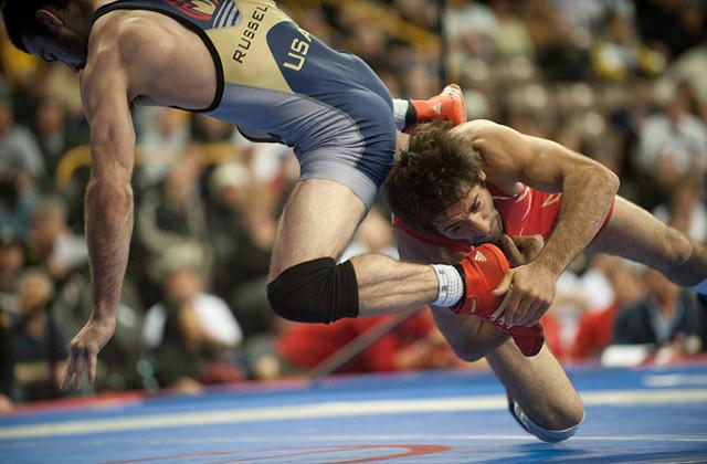 Iowa assistant wrestling coach Mike Zadick competed in this weekend's Olympic Trials at Carver Hawkeye Arena.