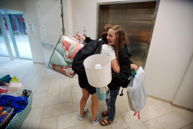 Petersen Hall move-in on Wednesday, August 19, 2015.