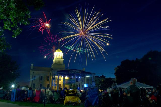 fireworks over old capitol