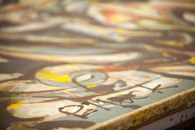 detail of Pollock painting