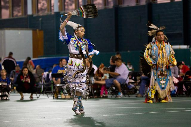 dancer at UI Powwow