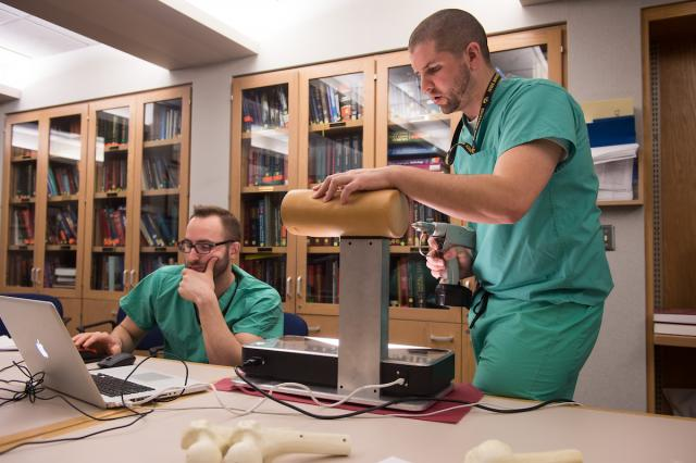 Researchers with the College of Medicine and College of Engineering built an orthopedic surgery simulator to improve medical training of doctors completing their residency, and to measure the surgical expertise of later-career surgeons
