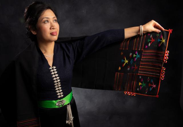 matsalyn brown in traditional tai dam attire