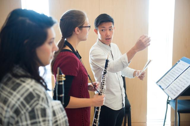 daniel chong advises musics students