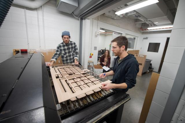 university of iowa students in the school of art and art history are using high-tech equipment in their creative work, opening up new ideas of expression and giving them a leg up on the job market