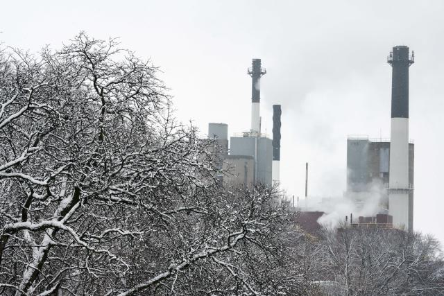 snowy power plant