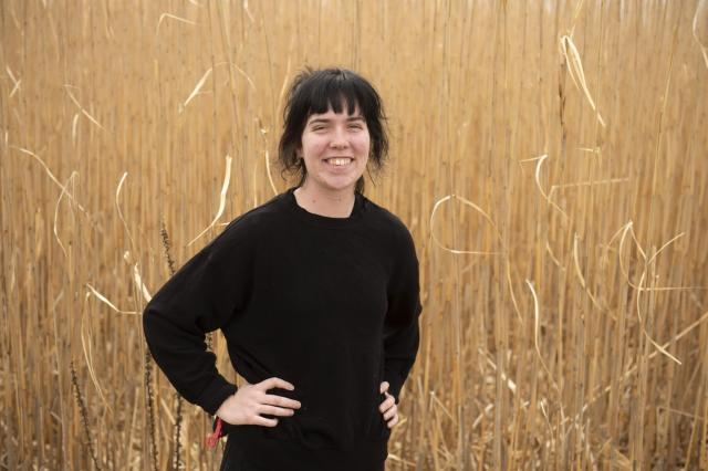 emily manders in miscanthus field