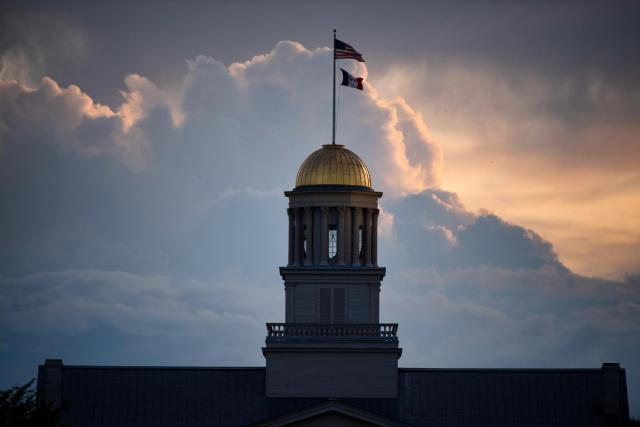 old capitol with cloud