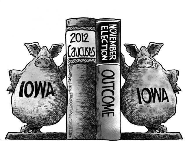 ui press book collects caucus work of cartoonist iowa now